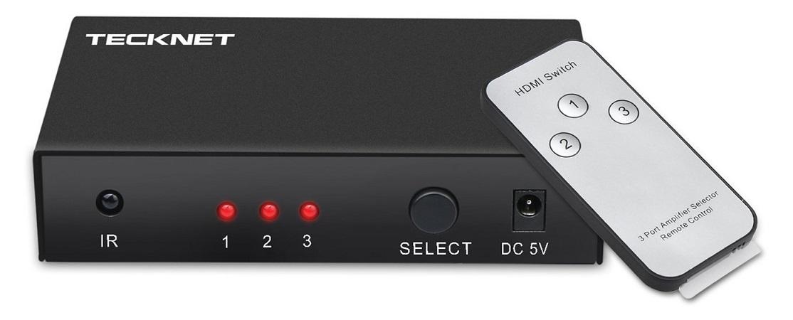 TeckNet HDMI Switcher 3 Port